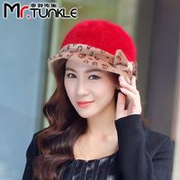 DG1509 winter lady warm hat Korean lovely autumn and winter fashion Hat Beret rabbit fur hats