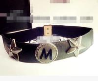Pentagram big personality waist chain belt runway fashion brand belt waist chai,men belts leather