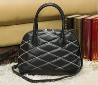 New Arrival 2014 Fashion Embroidery Shell Handbag Designer Brand Genuine Leather Quilted Ladies Shoulder Bag Women Vintage Bags