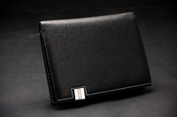 2014 high quality  hot  man wallet genuine leather men short paragraph  Purse Wallet spot supply wholesale  supply