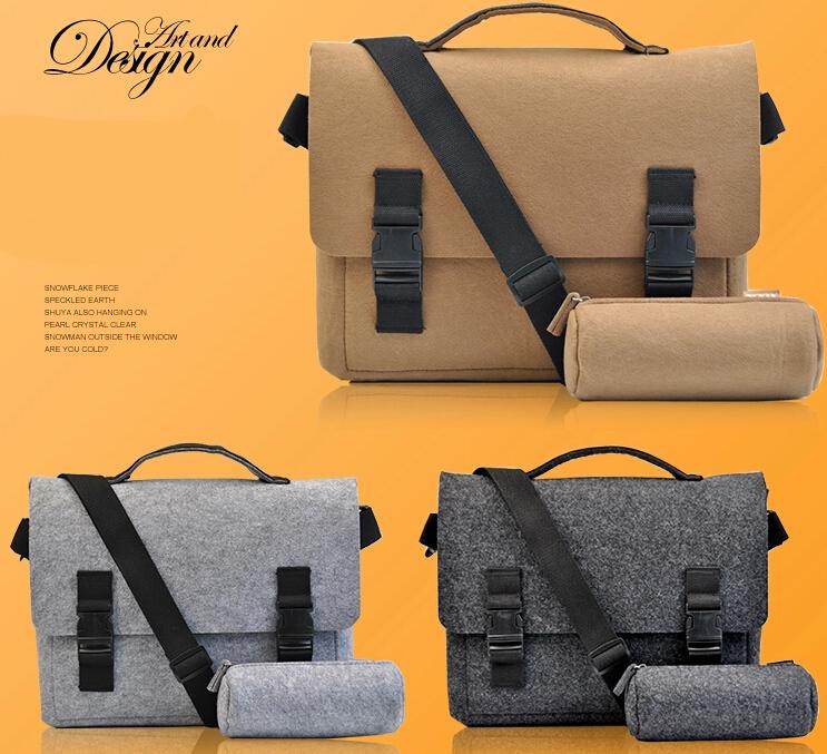 13 14 15 15 6 Inch Felt Computer Laptop Solid Notebook Tablet Bag Bags sleeve Messenger