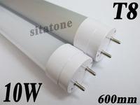 Free shipping AC85-265V T8 10W   led tube , 600mm ,SMD2835  25-27m/LED,2 year warranty ,9W 8W led tube