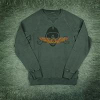 Washed etal mouth crew sweat Deus European and American fashion motorcycle style men 100% cotton hoodies