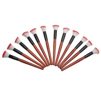 Red Handle Pink & White Brush Big Blush Brush