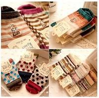 Cute Rabbit  Cotton Women's Socks Casual Winter Spring Autumn Girls Sock 10 Pairs/lot NFAB022