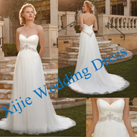 Factory Direct Sell Competitive Price Sweetheart Tulle Wedding Gown Unique Design --- Ali-0090