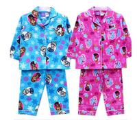 Free shipping FROZEN anna elsa flannel flannelette winter pyjamas pajamas sleepwear Pjs 2 color