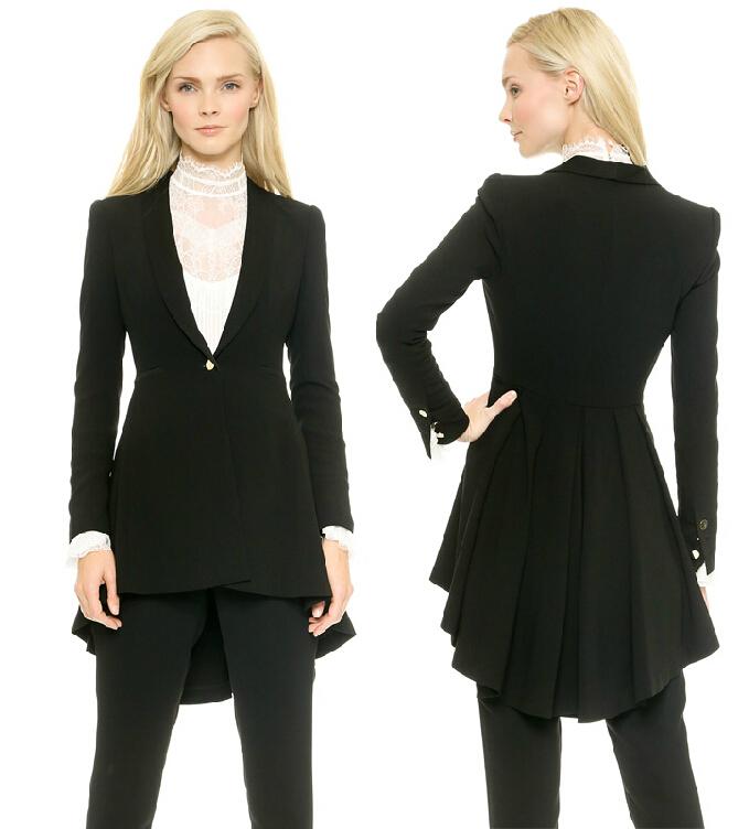 Women's Black Suit Tuxedo