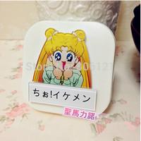 FREE SHIPPING 2015 Carton Sailor Moon CONTACT LENSES BOX&CASE wholesale 10pcs per lot CONTACT LENSES CARE TOOL GIFT