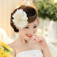 Handmade jewelry bridal headdress hair accessories wedding dress accessories Korean pearl crystal flower hair accessories studio