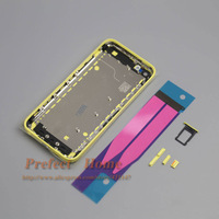 10pcs/lot  for 5c Housing completed Back Battery Cover Middle Frame Metal Back Housing for iPhone 5C assembly  5 Colors