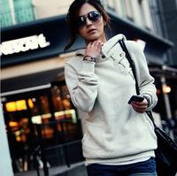 Plus Size New 2014 Spring Autumn Women Sweatshirt Fashion Sport Suit Pullovers Hoody Fleece Warm Girls Hoodies Winter Clothing