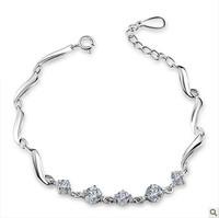 Silver jewelry 925 pure silver bracelet female fashion jewelry zircon jewelry lovers birthday gift accessories