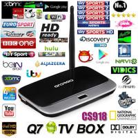 Live Streaming Channel CS918 Q7 MK888 Quad Core Android TV Box Rockchip 3188 Cortex A9 Smart TV Box HD 1080P Arabic IPTV Box