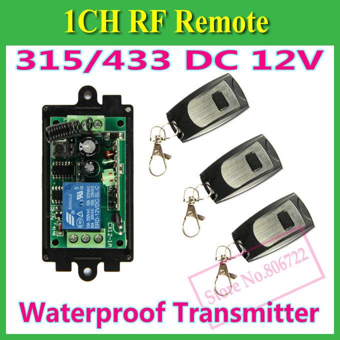 Дистанционный выключатель Chaohui DC 12V 10A 1 CH 1CH , 3 X + RF Remote Control