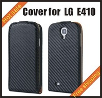 Free shipping --New high quality more colours leather case mobile phone cellphone for more colour LG E410