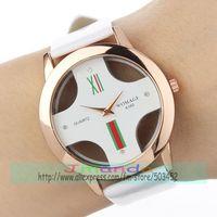 100pcs/lot WOMAGE-A380 Designer Leather Watch Fashion Brand Casual Watch Wrap Quartz Dress Watch Rose Gold Case Wristwatch