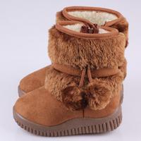 Fashion plus colors Warm Shoes Children's Boots Winter Boy Girls Warm Winter Flat Snow Boots 7 Colors Size 21-30