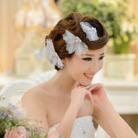 European and American jewelry bridal headdress hair accessories wedding dress white gripper handmade jewelry, hair ornaments hai