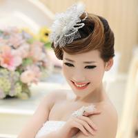 Bridal headdress head flower wedding jewelry wedding accessories in Europe and America pearl ring head flower hair accessories p