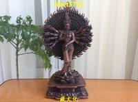 """12"""" tall Tibetan Buddhist bronze AVALOKITOSHVARE GUANYIN KWAN YIN buddha statue 32 cm"""