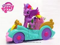 3pcs/set Limited Collector's Edition Genuine MLP dolls set included 1 Spike + 1 Twilight Sparkle + 1 Princess car