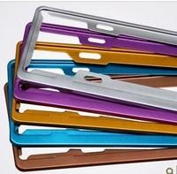 Space aluminium registration plate holder new polishing aluminum oxidized license frame colorful license plate frame