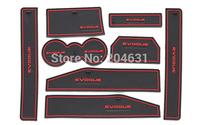 Silica gel Gate slot pad /Non-Slip Interior Door/ Cup Mat 8pcs/set FOR 2012-2015 for Evoque