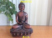 """8"""" Tibetan Buddhist red bronze nice looking AMITABHA buddha statue 20 cm"""