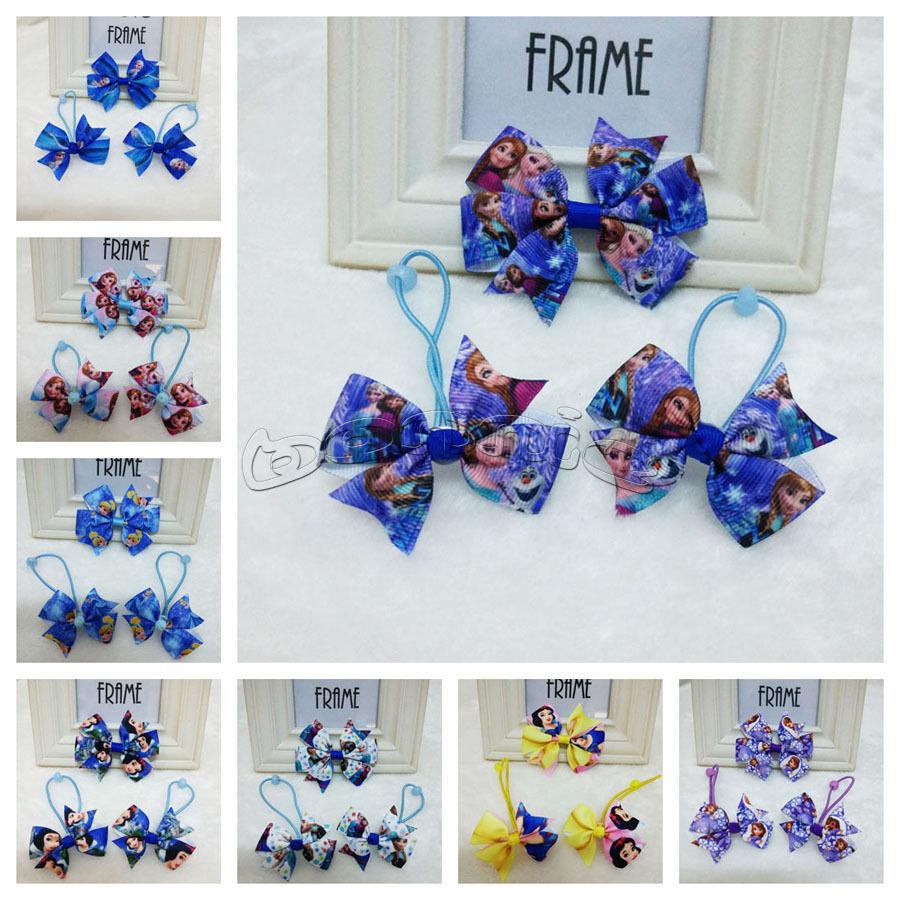 """20 sets/lot 3"""" pinwheel hair bows + hair ties/bobbles girls hair accessories 16 designs(China (Mainland))"""