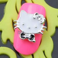 rh1363 wholesale new alloy nail art decoraitons 3d metal nail stickers 50pcs nail rhinestones  free shipping