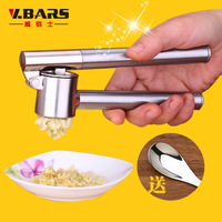 Stainless steel garlic press clip garlic ginger crushers kitchen supplies small tools