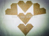 10pcs / lot gold heart shaped Crystal wedding decoration scrapbooking imitation empty affection birthday party decoration