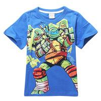 Teenage Mutant Ninja Turtles 2015 summer short-sleeved T-shirt foreign trade wholesale children's cartoon cotton size 100-140