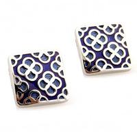 French cufflinks nail sleeve male cufflinks series blue decorative pattern cufflinks factory wholesale cheap