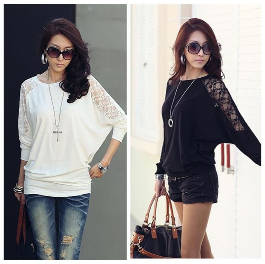 Женские блузки и Рубашки Batwing женские блузки и рубашки 2014