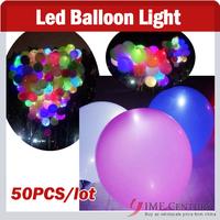 50pcs/lot led light Led ballon Latex balloons for Wedding Birthday,Christmas,Party Decoration Mixed Colors,Factory  Wholesale