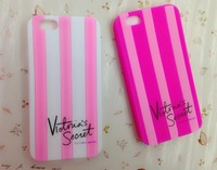 2014 Victoria/'s Style Luxe Soft Rubber Stripe Secret PINK Case Covers Case for iphone 6 4.7 inch 50pcs/lot