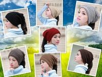 Free shipping   Korean unisex knit warm winter headgear multifunction dual piles of Baotou cap hat