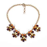 Champagne Droplets Flowers Women's Sweater Necklace