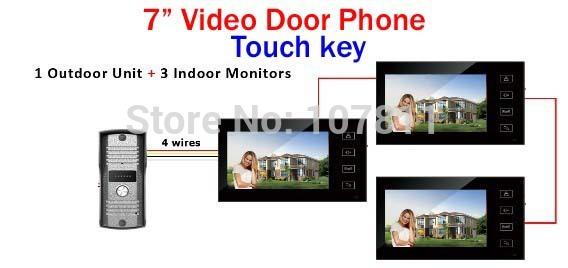 Видеодомофон Famous brand 7 TFT , 700 HD 1V3 SUN766-3