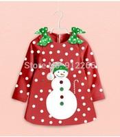 2015 new Christmas clothing baby girls dress 2015 Christmas clothes,14NOV56