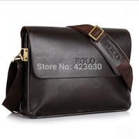 Promotion 2015 Genuine Leather Men Messenger Bags Vintage Mens Handbags High Quality Man Shoulder Bags Husband Gifts IPAD Bags