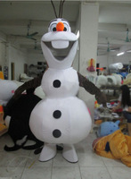 Real picture !!! New christmas cartoon character Smiling Frozen Olaf mascot costume kids party costume
