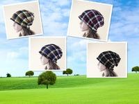 Free shipping  New Korean new warm winter casual plaid cap set neck Baotou dual knit hat
