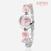 Free Shipping! Brand Women Watches KIMIO Watch Flowers Rhinestone Stainless Steel Wristwatches,K483