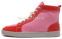 brand new men and women red bottom sneakers