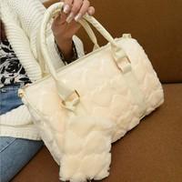 2014 women's winter handbag  velvet bags vintage handbag cross-body messenger bag