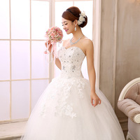 Fashion 2014 new wedding dress bra bride winter maternity big code fat MM significantly thin gauze of Qi
