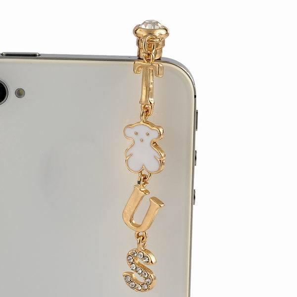 Fashion 3.5mm Dust Plug Cute White Bear Letter Design Earphone Jack Universal For iPhone Samsung Nokia(China (Mainland))
